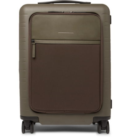 Model M 55cm Polycarbonate, Nylon And Leather Carry-on Suitcase - Green