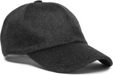 Embroidered Cashmere Baseball Cap - Dark gray