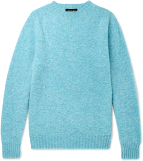 Birth Of The Cool Brushed Virgin Wool Sweater - Blue