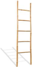 vidaXL Handduksstege med 5 pinnar bambu 150 cm