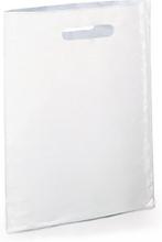 Plastik-Tragetaschen ohne Bodenfalte weiss 250 x 380 mm