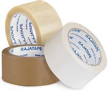 PVC-Packband RAJA, transparent 50 mm x 66m