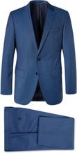 Hugo Boss - Navy Huge/genius Slim-fit Super 120s Virgin Wool Suit - Blue - M,Hugo Boss - Navy Huge/genius Slim-fit Super 120s Virgin Wool Suit - Blue - L,Hugo Boss - Navy Huge/genius Slim-fit Super 120s Virgin Wool Suit - Blue - XL,Hugo Boss - Navy Huge/g