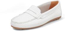Loafers i äkta läder från Peter Hahn vit