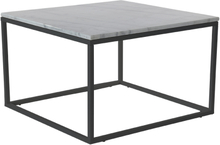 Accent soffbord 75 - Vit marmor / svart underrede