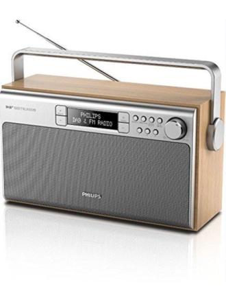 DAB bærbar radio AE5220 - DAB/DAB+/FM - Mono - Brun
