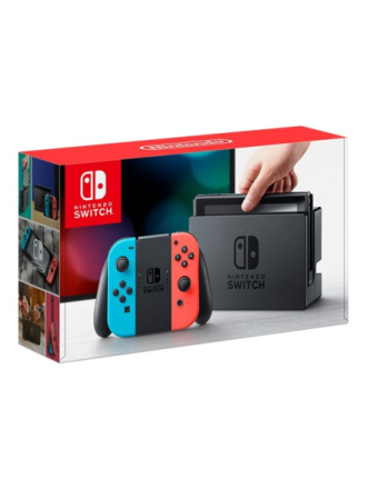 Switch With Joy-Con - Neon Blue and Neon Red