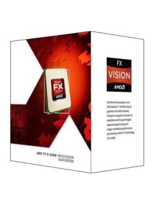 FX-4300 Black CPU - 3.8 GHz - AM3+ - 4 kerner - Boxed (PIB - med køler)