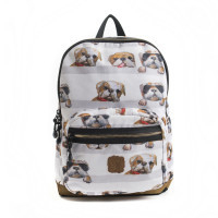 Backpack dogs white