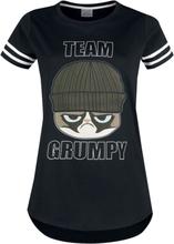 Grumpy Cat - Team Grumpy -T-skjorte - svart