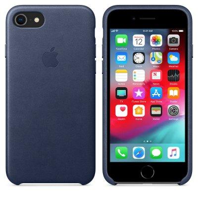 Apple Läderskal för iPhone 7 / 8 - Midnattsblå