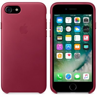 Apple Läderskal för iPhone 8 / 7 - Smultron