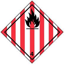 Gefahrenetikett - Entzündbare feste Stoffe