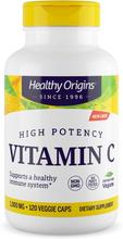 Vitamin C 1000 mg (Non-GMO L-Ascorbic Acid) 120 Vcaps - Healthy Origins