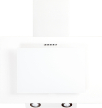 Vägghängd köksfläkt FIERRA vit 50cm/60cm/80cm/90cm + vit glas - vit - 60 cm