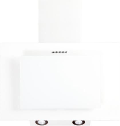 Vägghängd köksfläkt FIERRA vit 50cm/60cm/80cm/90cm + vit glas - vit - 50 cm