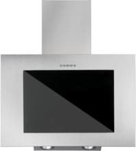 Vägghängd köksfläkt FIERRA rostfritt stål 50cm/60cm/80cm/90cm +svart glas - rosrfritt stål - 60 cm