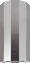 Design frihängande köksfläkt Geneve borstat rostfritt stål