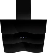 Vägghängd köksfläkt Wave vit/svart glas 60cm/80cm/90cm - svart - 60 cm