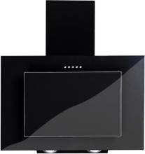 Vägghängd köksfläkt FIERRA svart 50cm/60cm/80cm/90cm + svart glas - svart - 80 cm