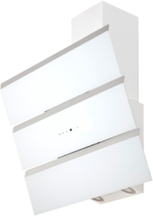 Vägghängd vertikal köksfläkt Kaskade LYX vit glas 60cm/80cm/90cm - vit - 60 cm