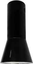 Design frihängande köksfläkt Vesuvius svart