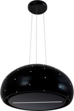 Exklusiv keramisk vajerhängd köksfläkt Impresario svart + Swarovski kristaller
