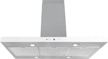 Lyx frihängande köksfläkt Pacific 60cm / 90 cm rostfritt stål+ vit glas