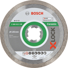 Bosch Standard for Ceramic Diamantkapskiva med X-LOCK 125 × 22,23 × 1,6 x 7 mm