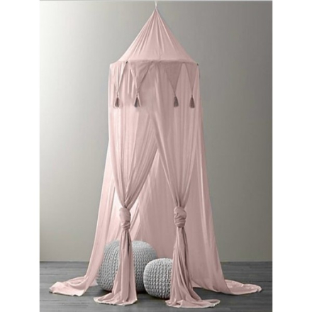Sänghimmel med girlang, Rosa, VaniMeli
