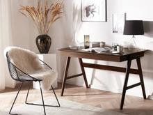 Beliani Skrivbord med 2 lådor mörkbrun SHESLAY