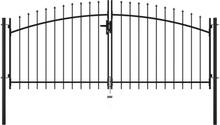 vidaXL Dubbelgrind med spjut-toppar 300x150 cm