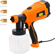 vidaXL elektrisk malersprøjte med 3 dysestørrelser 500 W 800 ml