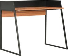 vidaXL skrivebord 90 x 60 x 88 cm sort og brun