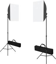 vidaXL professionelle studielamper 2 stk. 40 x 60 cm stål sort