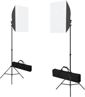vidaXL Profesjonelle studiolys 2 stk 40x60 cm stål svart
