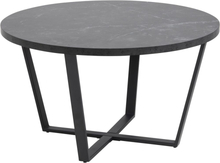 Amble Soffbord - Svart/svart marmor