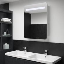 vidaXL Badrumsspegel med skåp LED 60x11x80 cm