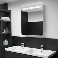 vidaXL Badrumsspegel med skåp LED 68x11x80 cm