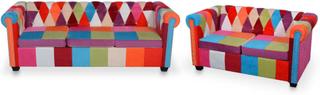 vidaXL chesterfield-sofaer 2 stk. stof