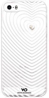 White diamonds heartbeat skal till apple iphone 5 / 5s / se-