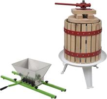 vidaXL Frukt- och vinpress set 2 delar