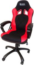 Warrior Krzes?o gamingowe - Czarno-czerwony - Skóra PU - 150 kg