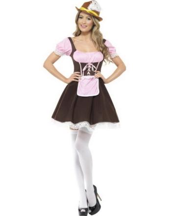 Krojente med Kort Kjole - Oktoberfest Kostyme