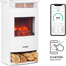 Bormio Smart elektrisk kamin 950/1900W termostat veckotimer vit