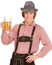 Rød Rutete Oktoberfest Kostymeskjorte
