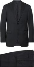 Midnight-blue Slim-fit Wool-twill Suit - Midnight blue