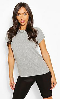 Roll Up Sleeve Basic T-Shirt