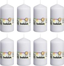 Bolsius Blockljus 8 st 130x68 mm vit