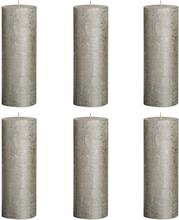 Bolsius Rustika blockljus 6 st 190x68 mm champagne